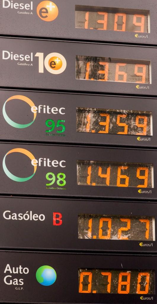 Comparativa precios carburantes